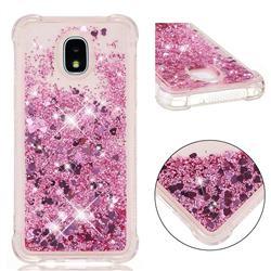 Dynamic Liquid Glitter Sand Quicksand Star TPU Case for Samsung Galaxy J3 (2018) - Diamond Rose