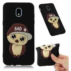Bad Boy Owl Soft 3D Silicone Case for Samsung Galaxy J3 (2018) - Black