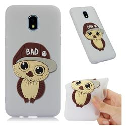 Bad Boy Owl Soft 3D Silicone Case for Samsung Galaxy J3 (2018) - Translucent White