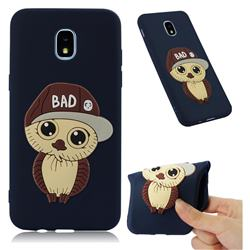 Bad Boy Owl Soft 3D Silicone Case for Samsung Galaxy J3 (2018) - Navy