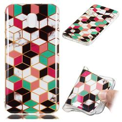 Three-dimensional Square Soft TPU Marble Pattern Phone Case for Samsung Galaxy J3 (2018)