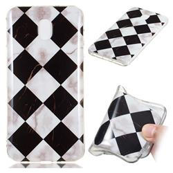 Black and White Matching Soft TPU Marble Pattern Phone Case for Samsung Galaxy J3 (2018)