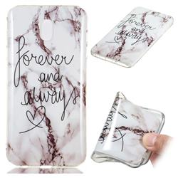 Forever Soft TPU Marble Pattern Phone Case for Samsung Galaxy J3 (2018)