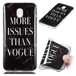 Stylish Black Soft TPU Marble Pattern Phone Case for Samsung Galaxy J3 (2018)