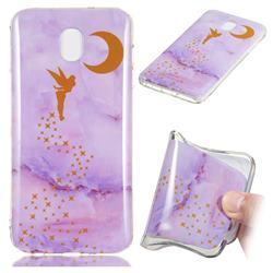 Elf Purple Soft TPU Marble Pattern Phone Case for Samsung Galaxy J3 (2018)
