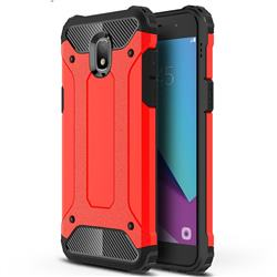King Kong Armor Premium Shockproof Dual Layer Rugged Hard Cover for Samsung Galaxy J3 (2018) - Big Red