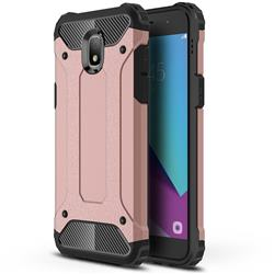 King Kong Armor Premium Shockproof Dual Layer Rugged Hard Cover for Samsung Galaxy J3 (2018) - Rose Gold