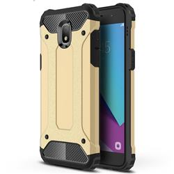 King Kong Armor Premium Shockproof Dual Layer Rugged Hard Cover for Samsung Galaxy J3 (2018) - Champagne Gold