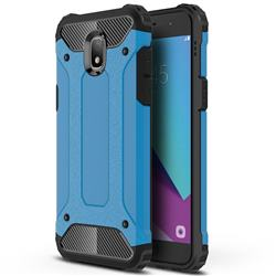 King Kong Armor Premium Shockproof Dual Layer Rugged Hard Cover for Samsung Galaxy J3 (2018) - Sky Blue