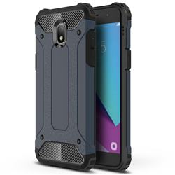 King Kong Armor Premium Shockproof Dual Layer Rugged Hard Cover for Samsung Galaxy J3 (2018) - Navy