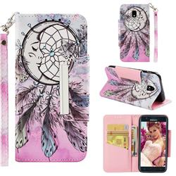 Angel Monternet Big Metal Buckle PU Leather Wallet Phone Case for Samsung Galaxy J3 (2018)