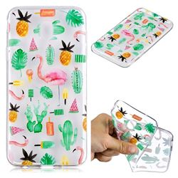 Cactus Flamingos Super Clear Soft TPU Back Cover for Samsung Galaxy J4 (2018) SM-J400F