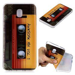 Retro Cassette Tape Super Clear Soft TPU Back Cover for Samsung Galaxy J4 (2018) SM-J400F
