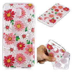 Chrysant Flower Super Clear Soft TPU Back Cover for Samsung Galaxy J4 (2018) SM-J400F