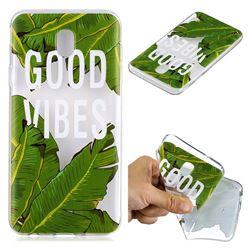 Good Vibes Banana Leaf Super Clear Soft TPU Back Cover for Samsung Galaxy J4 (2018) SM-J400F