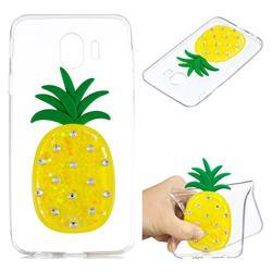 Yellow Pineapple Liquid Quicksand Soft 3D Cartoon Case for Samsung Galaxy J4 (2018) SM-J400F