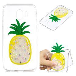 White Pineapple Liquid Quicksand Soft 3D Cartoon Case for Samsung Galaxy J4 (2018) SM-J400F