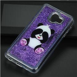 Naughty Panda Glassy Glitter Quicksand Dynamic Liquid Soft Phone Case for Samsung Galaxy J4 (2018) SM-J400F