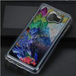 Phoenix Glassy Glitter Quicksand Dynamic Liquid Soft Phone Case for Samsung Galaxy J4 (2018) SM-J400F