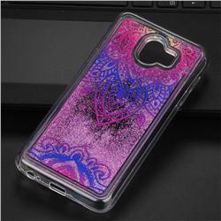 Blue and White Glassy Glitter Quicksand Dynamic Liquid Soft Phone Case for Samsung Galaxy J4 (2018) SM-J400F