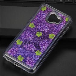 Purple Grape Glassy Glitter Quicksand Dynamic Liquid Soft Phone Case for Samsung Galaxy J4 (2018) SM-J400F