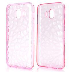 Diamond Pattern Shining Soft TPU Phone Back Cover for Samsung Galaxy J4 (2018) SM-J400F - Pink