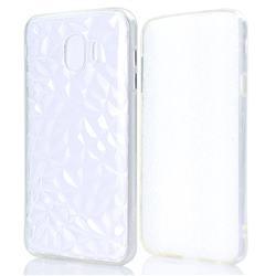 Diamond Pattern Shining Soft TPU Phone Back Cover for Samsung Galaxy J4 (2018) SM-J400F - Transparent