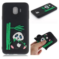 Panda Eating Bamboo Soft 3D Silicone Case for Samsung Galaxy J4 (2018) SM-J400F - Black