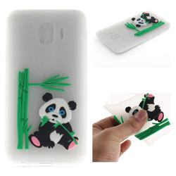 Panda Eating Bamboo Soft 3D Silicone Case for Samsung Galaxy J4 (2018) SM-J400F - Translucent