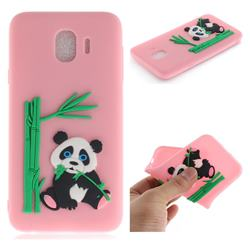 Panda Eating Bamboo Soft 3D Silicone Case for Samsung Galaxy J4 (2018) SM-J400F - Pink