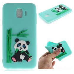 Panda Eating Bamboo Soft 3D Silicone Case for Samsung Galaxy J4 (2018) SM-J400F - Green