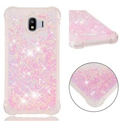Dynamic Liquid Glitter Sand Quicksand TPU Case for Samsung Galaxy J4 (2018) SM-J400F - Silver Powder Star