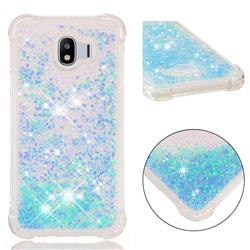 Dynamic Liquid Glitter Sand Quicksand TPU Case for Samsung Galaxy J4 (2018) SM-J400F - Silver Blue Star