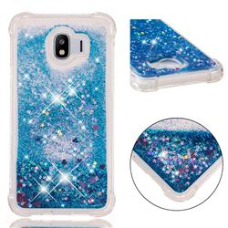 Dynamic Liquid Glitter Sand Quicksand TPU Case for Samsung Galaxy J4 (2018) SM-J400F - Blue Love Heart