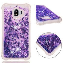 Dynamic Liquid Glitter Sand Quicksand Star TPU Case for Samsung Galaxy J4 (2018) SM-J400F - Purple