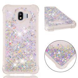 Dynamic Liquid Glitter Sand Quicksand Star TPU Case for Samsung Galaxy J4 (2018) SM-J400F - Silver