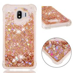 Dynamic Liquid Glitter Sand Quicksand Star TPU Case for Samsung Galaxy J4 (2018) SM-J400F - Diamond Gold
