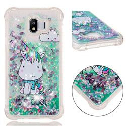 Tiny Unicorn Dynamic Liquid Glitter Sand Quicksand Star TPU Case for Samsung Galaxy J4 (2018) SM-J400F