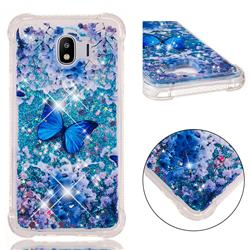 Flower Butterfly Dynamic Liquid Glitter Sand Quicksand Star TPU Case for Samsung Galaxy J4 (2018) SM-J400F