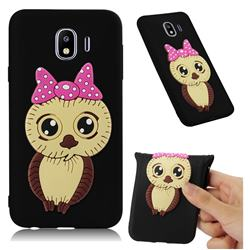 Bowknot Girl Owl Soft 3D Silicone Case for Samsung Galaxy J4 (2018) SM-J400F - Black