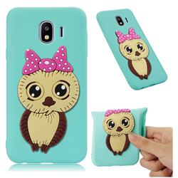 Bowknot Girl Owl Soft 3D Silicone Case for Samsung Galaxy J4 (2018) SM-J400F - Sky Blue