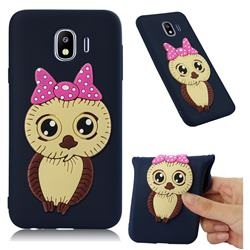 Bowknot Girl Owl Soft 3D Silicone Case for Samsung Galaxy J4 (2018) SM-J400F - Navy