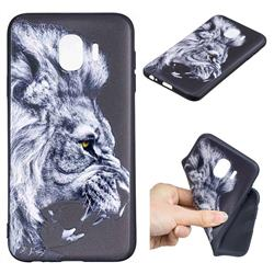 Lion 3D Embossed Relief Black TPU Cell Phone Back Cover for Samsung Galaxy J4 (2018) SM-J400F