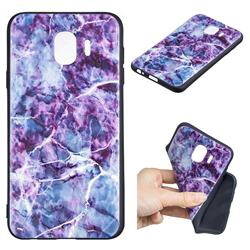 Marble 3D Embossed Relief Black TPU Cell Phone Back Cover for Samsung Galaxy J4 (2018) SM-J400F