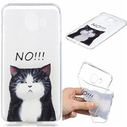 Cat Say No Clear Varnish Soft Phone Back Cover for Samsung Galaxy J4 (2018) SM-J400F