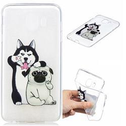 Selfie Dog Clear Varnish Soft Phone Back Cover for Samsung Galaxy J4 (2018) SM-J400F