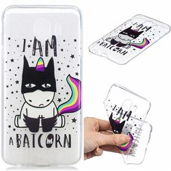 Batman Clear Varnish Soft Phone Back Cover for Samsung Galaxy J4 (2018) SM-J400F