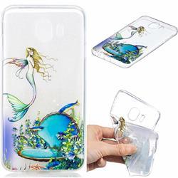 Mermaid Clear Varnish Soft Phone Back Cover for Samsung Galaxy J4 (2018) SM-J400F