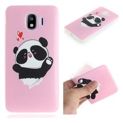 Heart Cat IMD Soft TPU Cell Phone Back Cover for Samsung Galaxy J4 (2018) SM-J400F