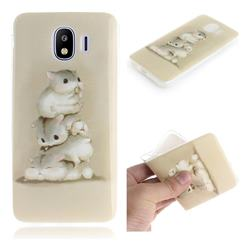 Three Squirrels IMD Soft TPU Cell Phone Back Cover for Samsung Galaxy J4 (2018) SM-J400F